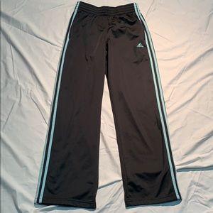 Adidas dark grey and light blue pants - size small
